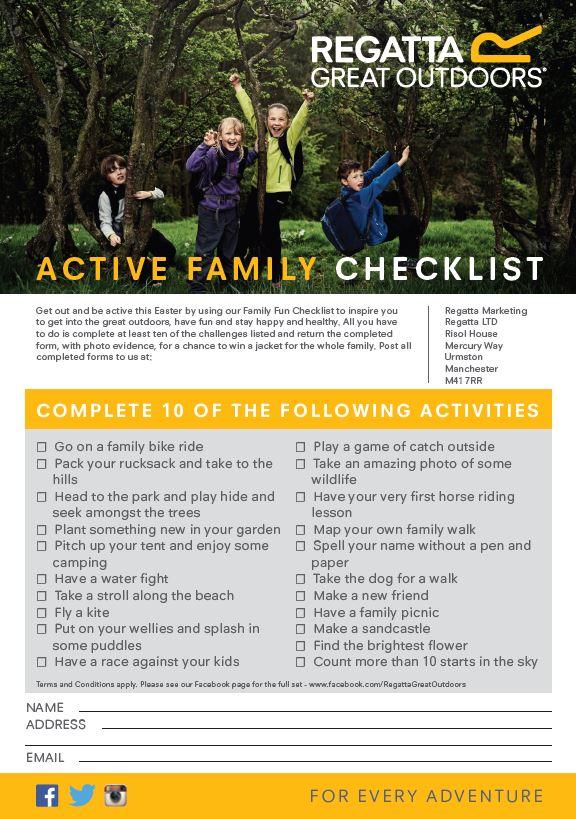 Active Family Checklist