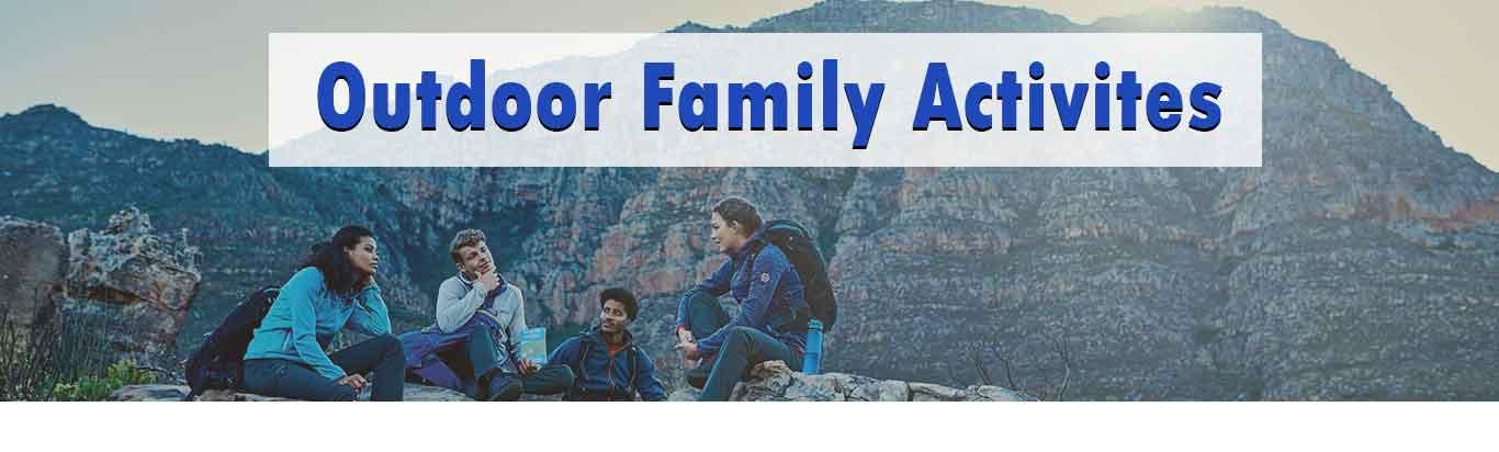 outdoor family activities banner