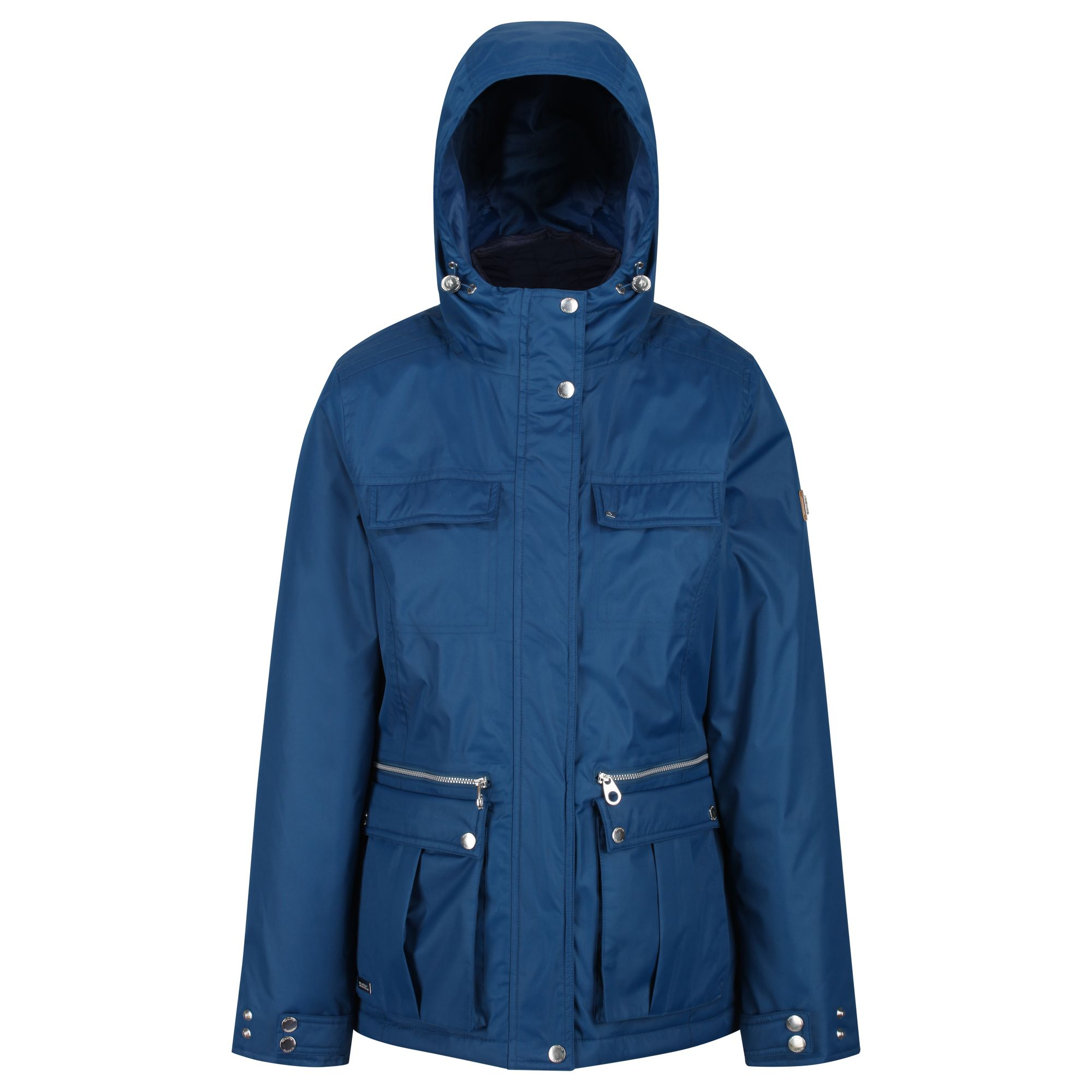 Women's navy hooded thick jacket