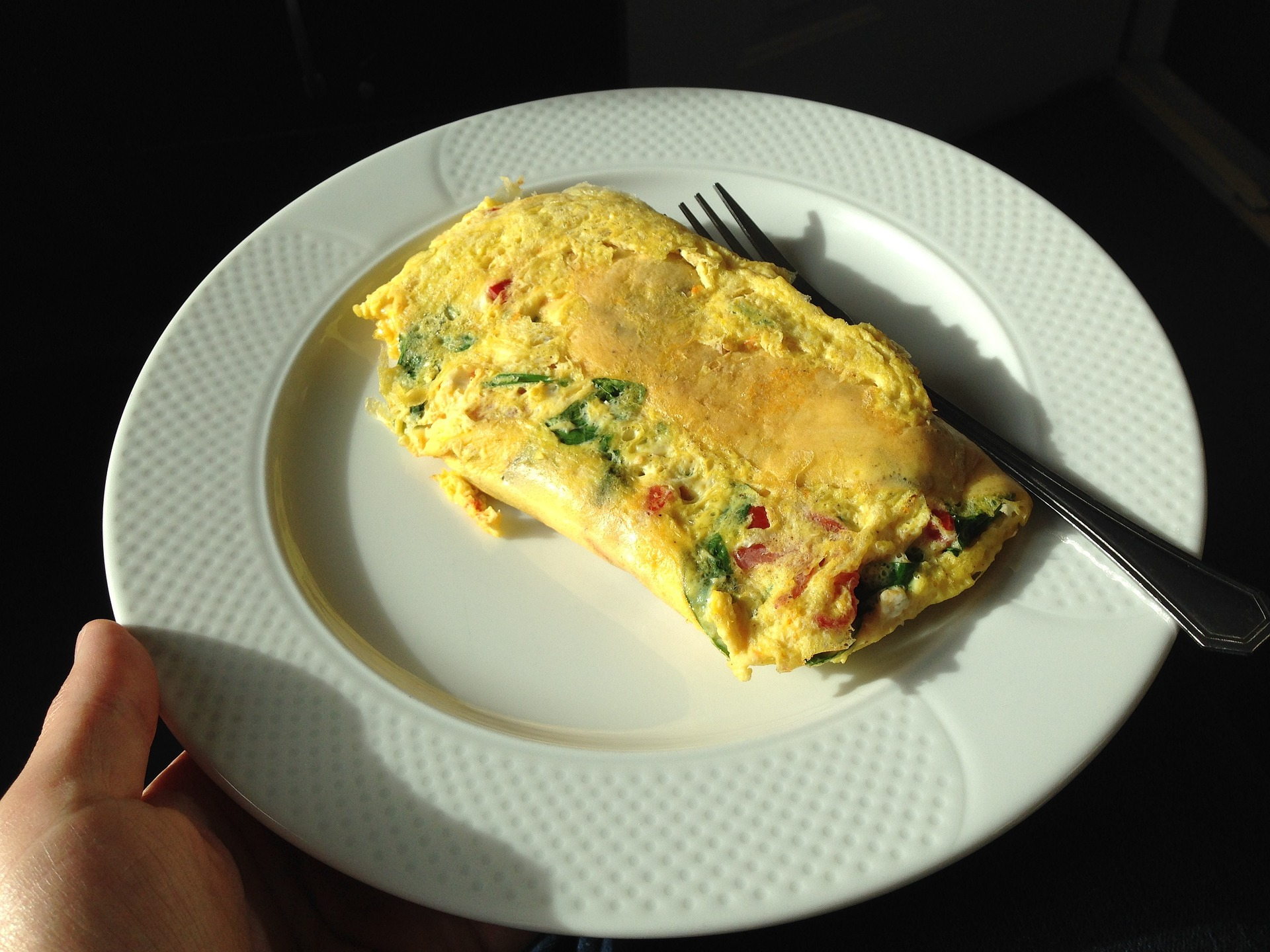 An easy to make campsite omelette