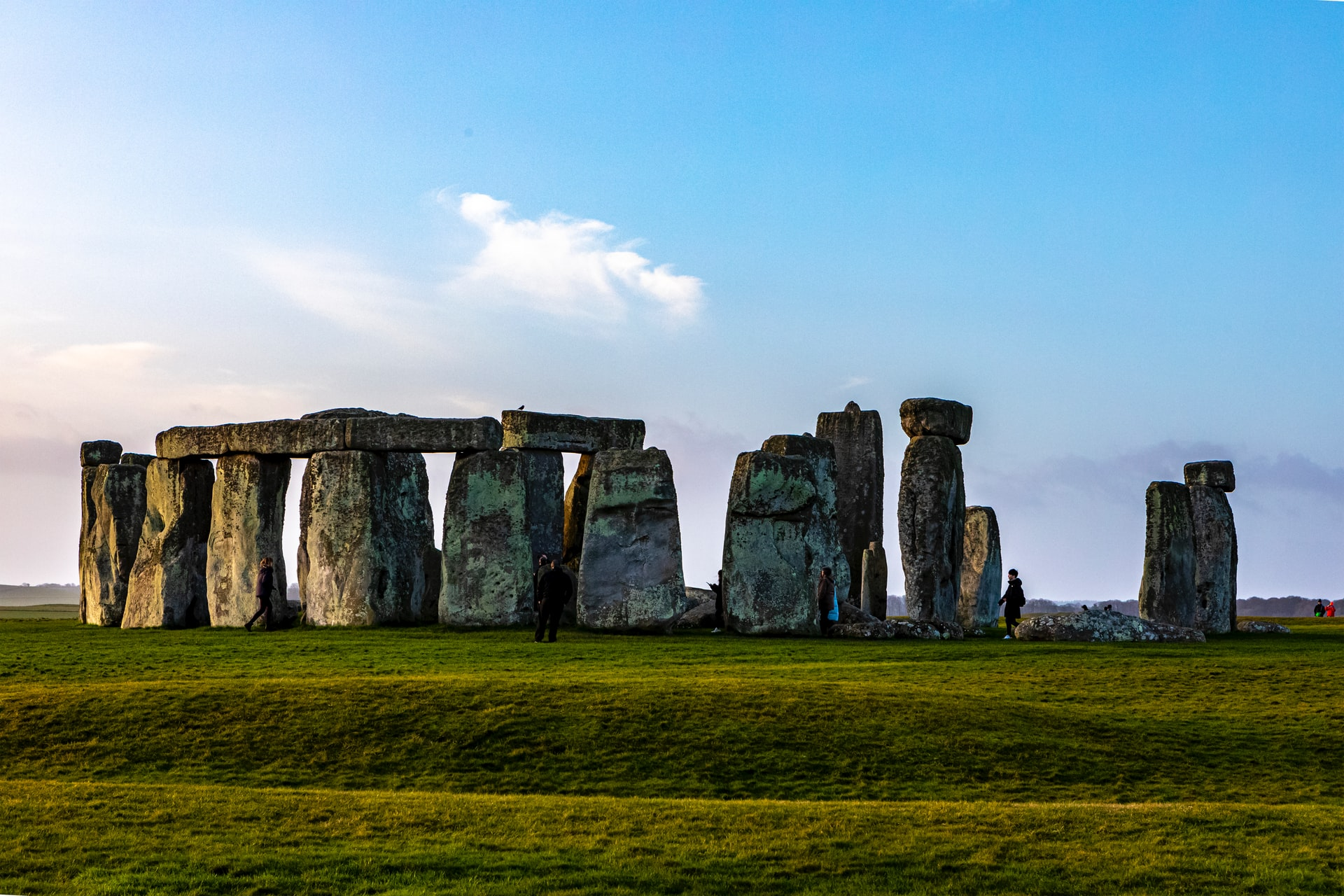Side view of stonehenge
