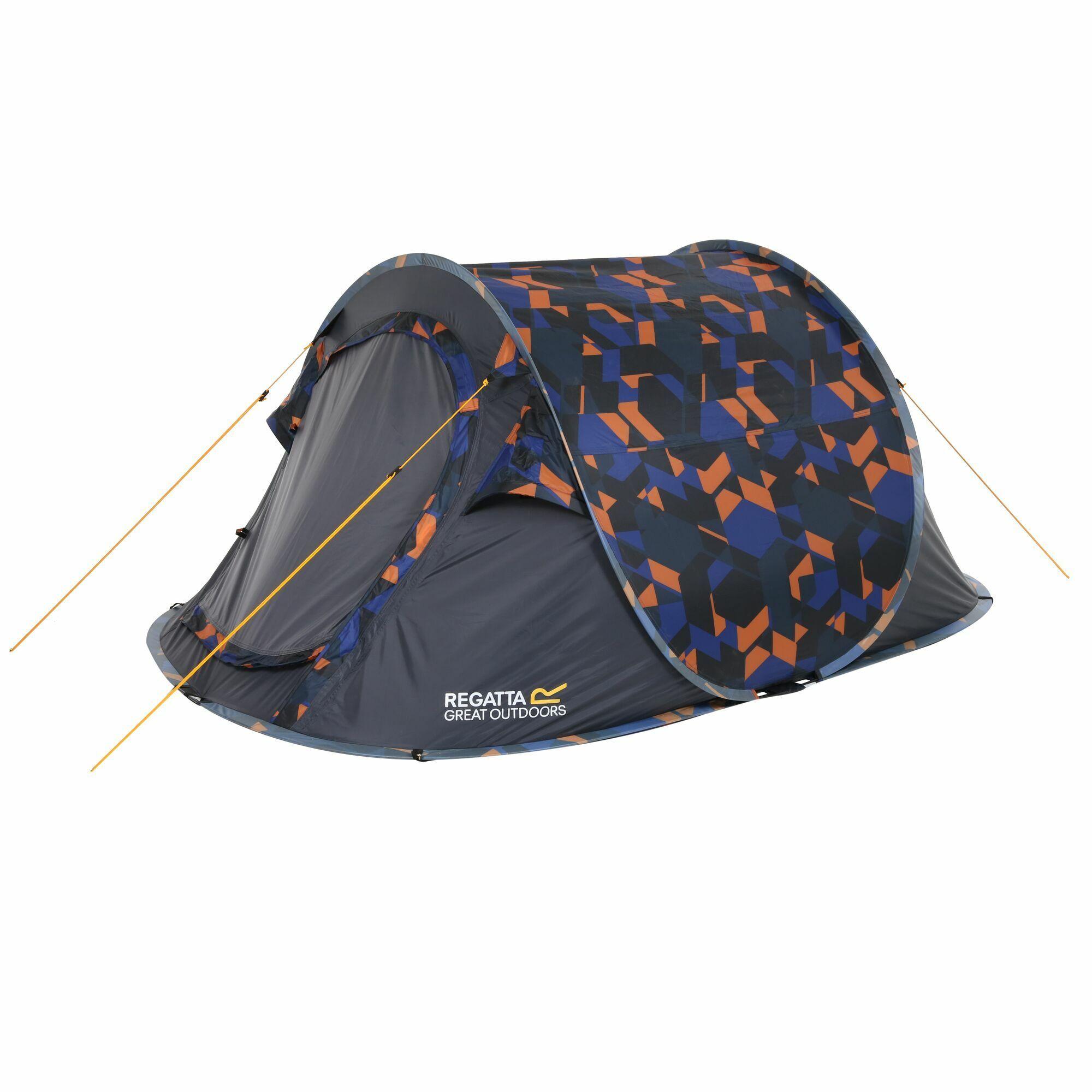 GEO Blue Orange Pop Up Tent