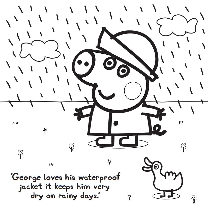 George Pig With Waterproof Jacket On